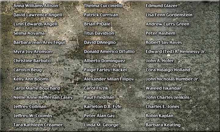 American Airlines Flight 11 Victims