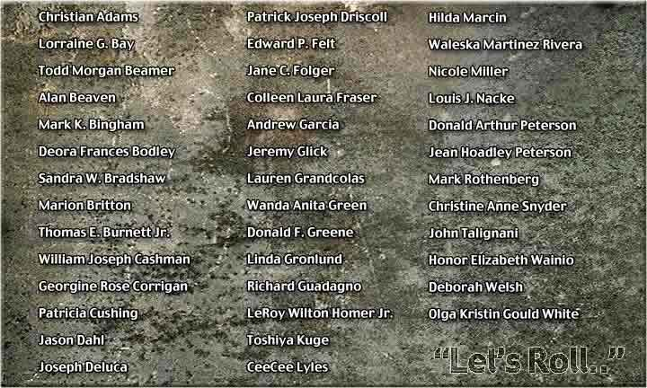 United Airlines Flight 93 Victims